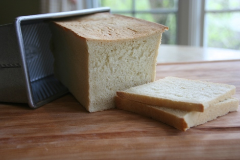The classic white sandwich loaf baked in a Pullman pan.