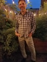 Chef/owner Jerry Traunfeld in his herb garden