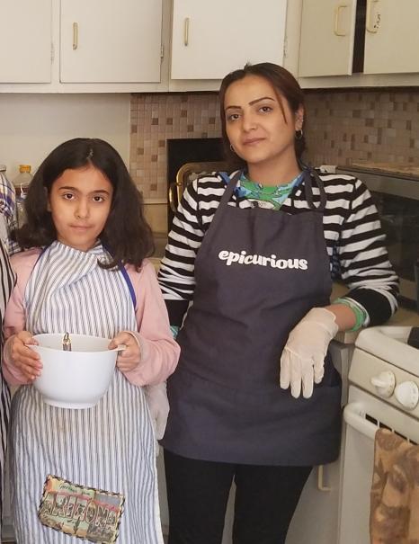 Rokan and her niece Lamis